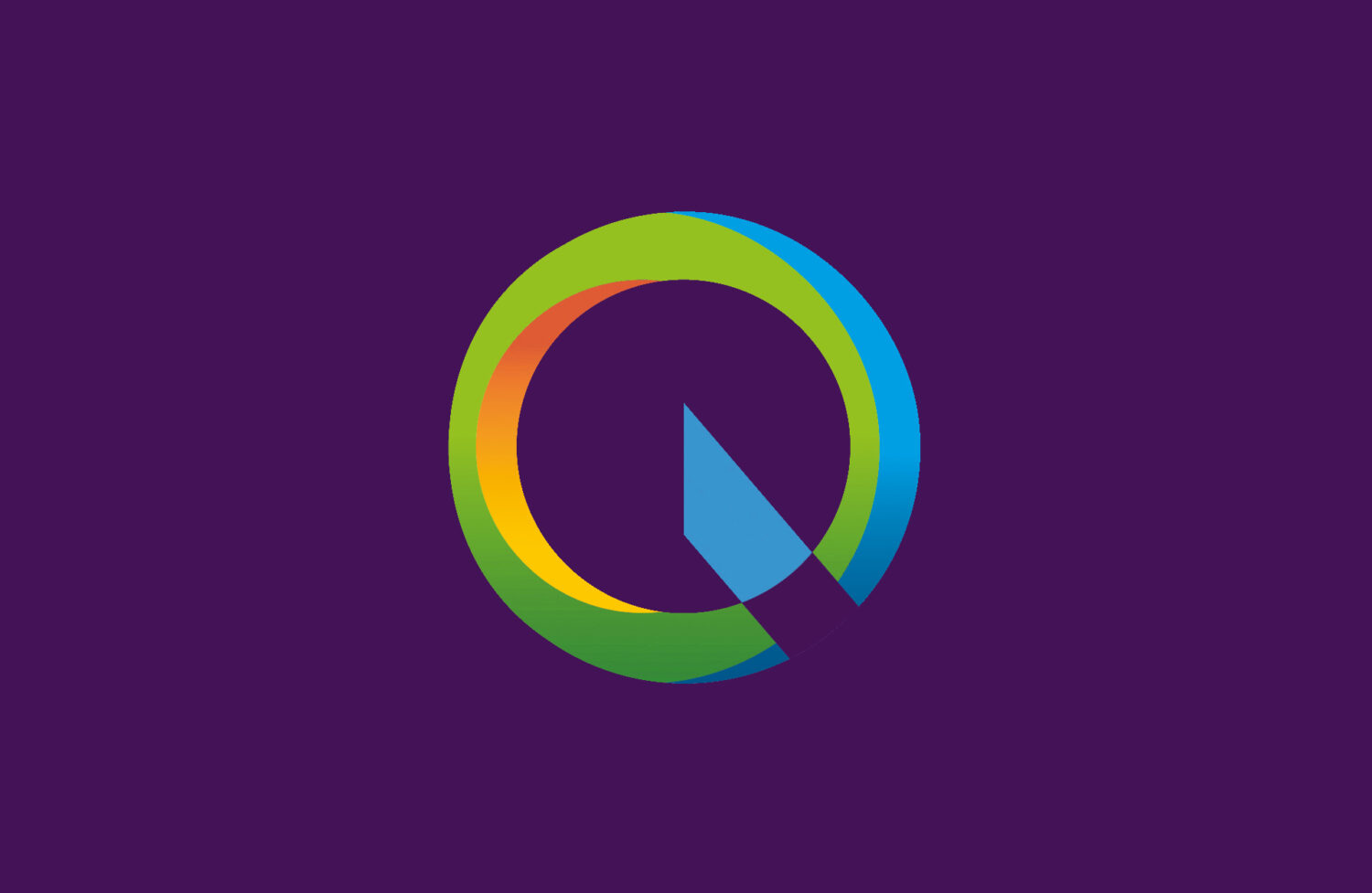 Heating Cooling Ventilation Logo, Quantum Group